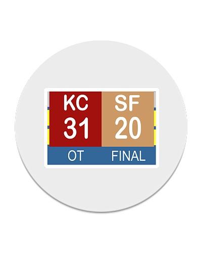 KC VS SF - The Big Game Scoreboard