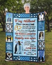 """Penguin  Sherpa Fleece Blanket - 50"""" x 60"""" aos-sherpa-fleece-blanket-50x60-lifestyle-front-13b"""