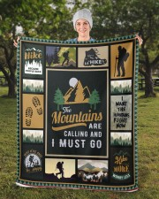 "Hiking Sherpa Fleece Blanket - 50"" x 60"" aos-sherpa-fleece-blanket-50x60-lifestyle-front-13b"