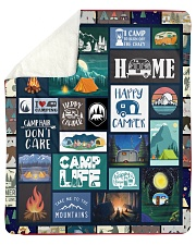 "Camp Life Sherpa Fleece Blanket - 50"" x 60"" front"