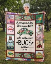 """Bugs Car  Sherpa Fleece Blanket - 50"""" x 60"""" aos-sherpa-fleece-blanket-50x60-lifestyle-front-13b"""
