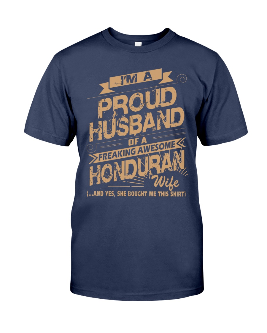 HONDURAN AWESOME WIFE Premium Fit Mens Tee