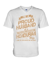 HONDURAN AWESOME WIFE V-Neck T-Shirt thumbnail