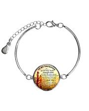 To my daughter - love dad1 Metallic Circle Bracelet front