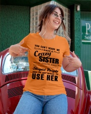 You can't scare me i have crazy sister Ladies T-Shirt apparel-ladies-t-shirt-lifestyle-01