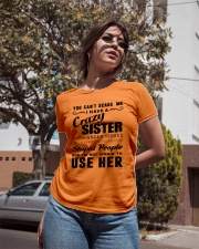 You can't scare me i have crazy sister Ladies T-Shirt apparel-ladies-t-shirt-lifestyle-02