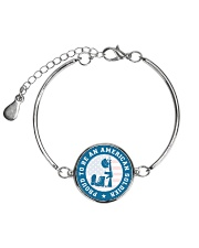 Proud to be an american soldier Metallic Circle Bracelet front
