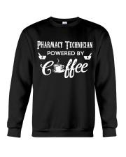 Pharmacy Tech Powered By Coffee Crewneck Sweatshirt thumbnail