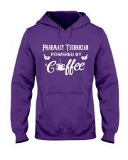 Pharmacy Tech Powered By Coffee Hooded Sweatshirt thumbnail