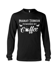 Pharmacy Tech Powered By Coffee Long Sleeve Tee thumbnail