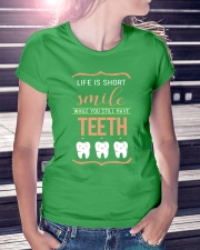 Smile while you still have teeth Ladies T-Shirt lifestyle-women-crewneck-front-7