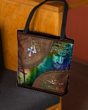 Faith Over Fear Leather Pattern Print All-over Tote aos-all-over-tote-lifestyle-front-02