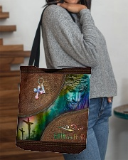 Faith Over Fear Leather Pattern Print All-over Tote aos-all-over-tote-lifestyle-front-09