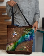 Faith Over Fear Leather Pattern Print All-over Tote aos-all-over-tote-lifestyle-front-10