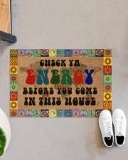 "Check Ya Energy Coir Pattern Print Doormat 22.5"" x 15""  aos-doormat-22-5x15-lifestyle-front-07"