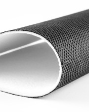 "Check Ya Energy Coir Pattern Print Doormat 22.5"" x 15""  aos-doormat-close-up-front-01"
