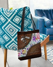 Strong Is Beautiful Leather Pattern Print All-over Tote aos-all-over-tote-lifestyle-front-01