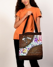 Strong Is Beautiful Leather Pattern Print All-over Tote aos-all-over-tote-lifestyle-front-06