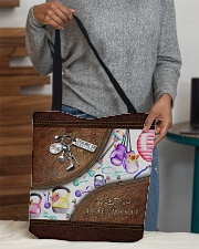 Strong Is Beautiful Leather Pattern Print All-over Tote aos-all-over-tote-lifestyle-front-10