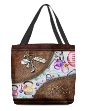 Strong Is Beautiful Leather Pattern Print All-over Tote back