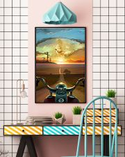 Ride With Jesus Canvas 11x17 Poster lifestyle-poster-6