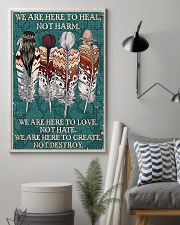 Native American We Are Here To Heal 11x17 Poster lifestyle-poster-1