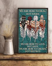 Native American We Are Here To Heal 11x17 Poster lifestyle-poster-3
