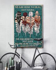Native American We Are Here To Heal 11x17 Poster lifestyle-poster-7