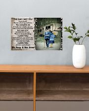 Personalized Camping Fifth Wheel The Day I Met 17x11 Poster poster-landscape-17x11-lifestyle-24