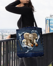 Elephant Daisy Jean For Elephant Lovers Tote Bag All-over Tote aos-all-over-tote-lifestyle-front-05