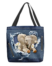 Elephant Daisy Jean For Elephant Lovers Tote Bag All-over Tote back