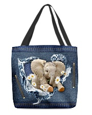 Elephant Daisy Jean For Elephant Lovers Tote Bag All-over Tote front