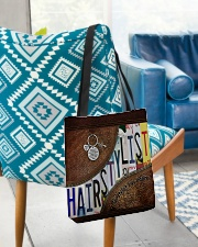 Hairstylist leather pattern print All-over Tote aos-all-over-tote-lifestyle-front-01
