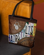 Hairstylist leather pattern print All-over Tote aos-all-over-tote-lifestyle-front-02