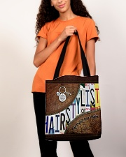 Hairstylist leather pattern print All-over Tote aos-all-over-tote-lifestyle-front-06