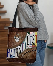 Hairstylist leather pattern print All-over Tote aos-all-over-tote-lifestyle-front-09