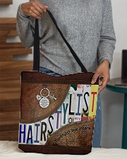Hairstylist leather pattern print All-over Tote aos-all-over-tote-lifestyle-front-10