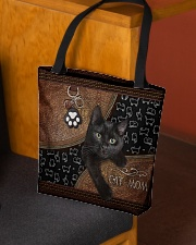 Cat Mom Leather Pattern Print All-over Tote aos-all-over-tote-lifestyle-front-02