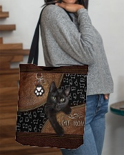 Cat Mom Leather Pattern Print All-over Tote aos-all-over-tote-lifestyle-front-09