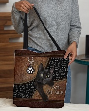 Cat Mom Leather Pattern Print All-over Tote aos-all-over-tote-lifestyle-front-10