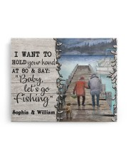 Personalized Fishing Pontoon Hold Hand  14x11 Gallery Wrapped Canvas Prints aos-canvas-pgw-14x11-ghosted-front-02