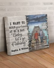 Personalized Fishing Pontoon Hold Hand  14x11 Gallery Wrapped Canvas Prints aos-canvas-pgw-14x11-lifestyle-front-07
