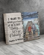 Personalized Fishing Pontoon Hold Hand  14x11 Gallery Wrapped Canvas Prints aos-canvas-pgw-14x11-lifestyle-front-08