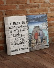 Personalized Fishing Pontoon Hold Hand  14x11 Gallery Wrapped Canvas Prints aos-canvas-pgw-14x11-lifestyle-front-09