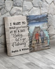 Personalized Fishing Pontoon Hold Hand  14x11 Gallery Wrapped Canvas Prints aos-canvas-pgw-14x11-lifestyle-front-13
