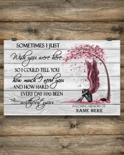 I Just Wish You Were Here Personalized  17x11 Poster aos-poster-landscape-17x11-lifestyle-14