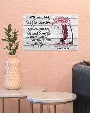 I Just Wish You Were Here Personalized  17x11 Poster poster-landscape-17x11-lifestyle-21