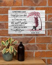 I Just Wish You Were Here Personalized  17x11 Poster poster-landscape-17x11-lifestyle-23