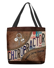 Chiropractor Respect Caring Courage All-over Tote front