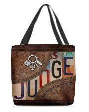 Judge Respect Caring Courage All-over Tote front